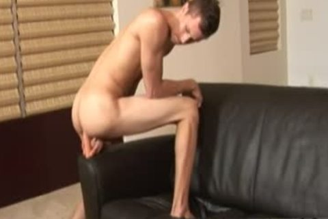Image homosexual Sex nailing wazoo boy  Jarrod Relieves Down On His fake penis