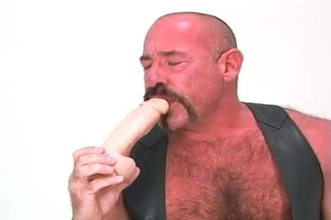 thick old dude Playing With His Dildos And pushing In