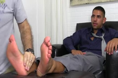 Latin Hunk Dressed In Business Attire Jake gets Toe Sucked