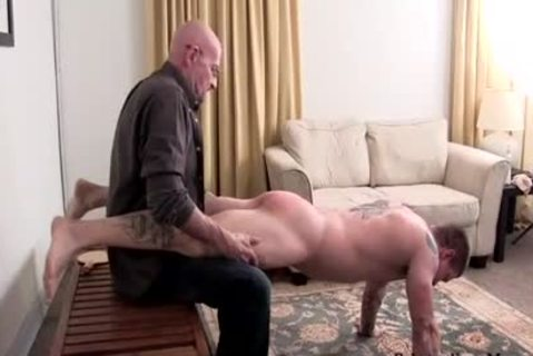 Muscle amateur spanking With ejaculation