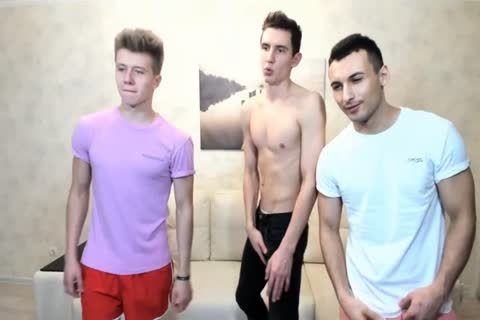 three Russian stylish twinks With Great Round booties,good cocks On web camera