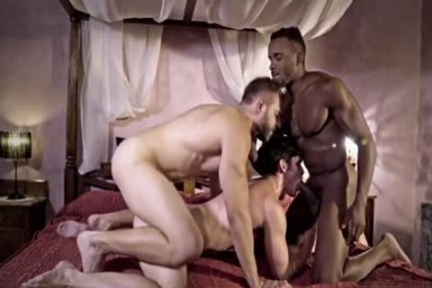 large cock gay 3some With cumshot