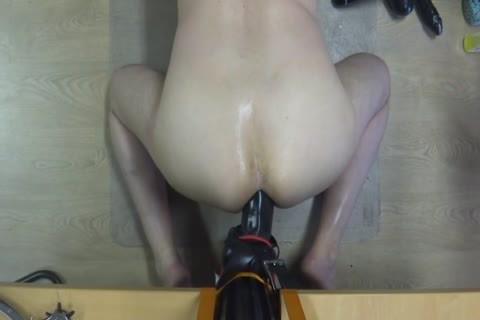 long Time Self Fuking With A large sex-toy
