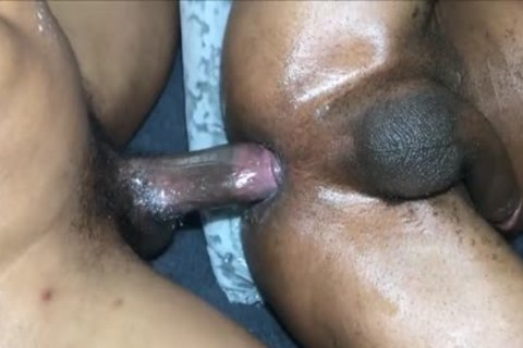 Masked ebony slamming
