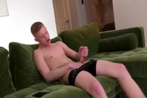 Ginger twink Is So lustful that man Needs two BBC Inside His beautiful Little twink gap
