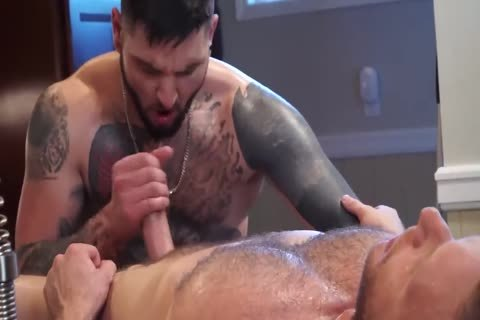 Tattooed twink gets His butthole Massaged