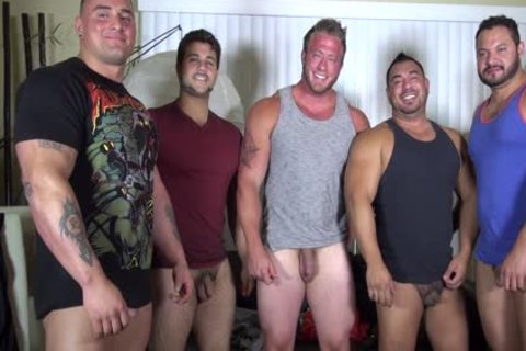 naked Party @ LATINO Muscle Bear abode - amateur enjoyment W/ Aaron Bruiser
