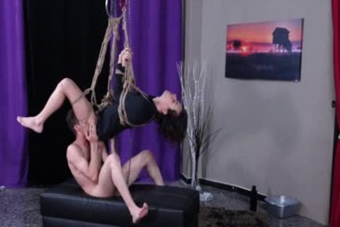 Latin ass Destroyed And Bred Whilst Suspended In Ropes